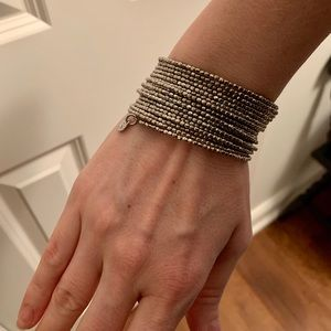 Stella & Dot Silver Wire Wrap Bracelet & Earrings